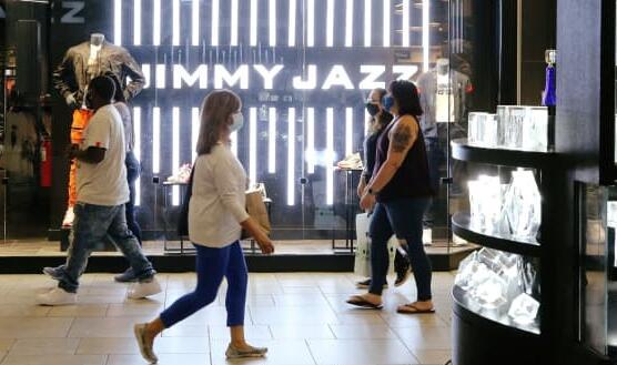 该图显示了假日购物者确实在2020年的最后几周赶赴购物中心