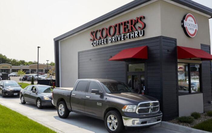 爱荷华州夫妇添加第二代摩托车的咖啡位置