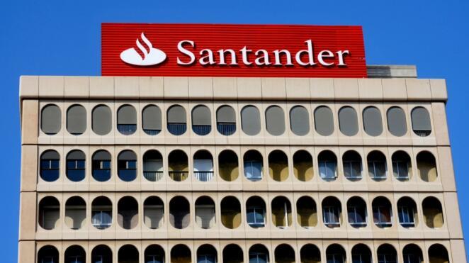 西班牙桑坦德银行第二季度基本利润增长35%